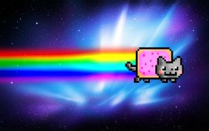 Nyan Cat Wallpaper by ExplosivePixel