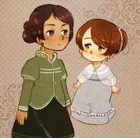 Young Analia and Agustina by FlopyLopez