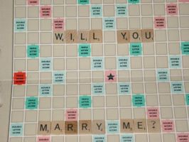 Scrabble Engagement by therickhoward