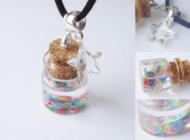 tiny lollipops in a jar by FrozenNote