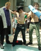Laxus, Gray and Gray from Fairy Tail at AX 2013 by trivto