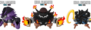 Fakemon: EX024 - EX026 Legendary Pirates by MTC-Studio