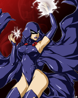 Teen Titans - Raven(Colored) by MissAudi