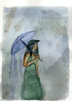 Mystery Woman Watercolor by r4mp4g6