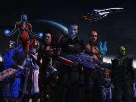 Mass effect wallpaper 3 by ethaclane