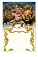 Hercules and the Lion by AZEITONA
