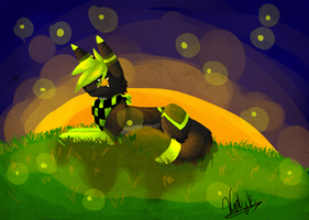 Fireflies over my Head by CosmicTacos