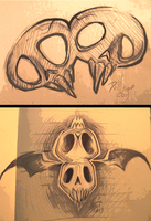 some skulls by DollCreep