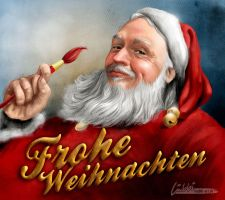 Frohe Weihnachten / Merry Christmas Selfportrait by luebbi1981