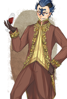 Bixlow in formal costume by blanania