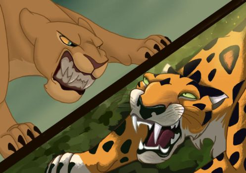 Disney Brawl - Nala vs. Sabor -- Nala WINS! by NostalgicChills
