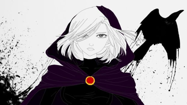 Raven in process... by Lelizcausa020294