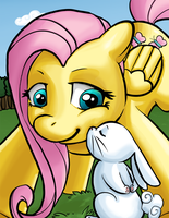 Fluttershy / Angel Smooch by ryuoku