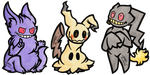 Ghost Pokemon Batch 1 by Neo-Hatoresu