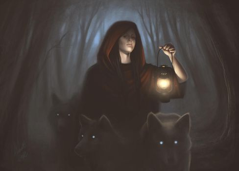 Little Red Riding Hood and Big Bad Wolf by maudt
