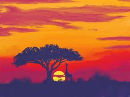 africa sunset by Dielven