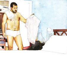 Chechu in his bedroom by picasio