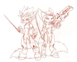 Armored Chibi Sanjems lol by Fox-Dev