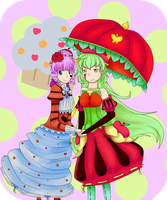 Apple and Cupcake by littlebookie