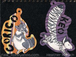badges - corico and keo by fala