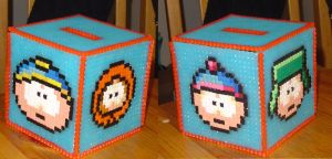 Hama Beads - South Park by acidezabs