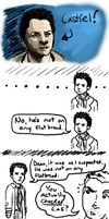 Doodles of Awesome Cas by DelusionInABox