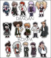 Dangan Ronpa Stickers (for sale) by adolescentcanine