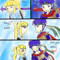 Ike and Samus meet? by ikesamusmarthpeach