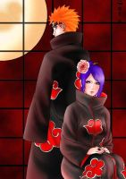 Pein and Konan by Uchiha-Texugo