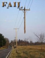 FAIL: Half-Gone Utility Pole by 1389AD