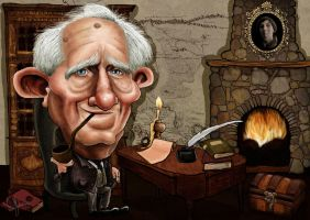 J. R. R. Tolkien caricature by ziggy-q