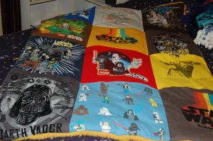 Star Wars T-shirt Quilt by aherrera621