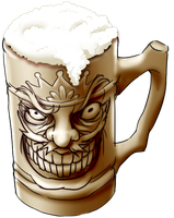 Crazy Beer Stein by skimlines