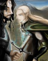 legolas and aragorn by kika1983