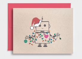 Christmas Card - Robot by happydappybits