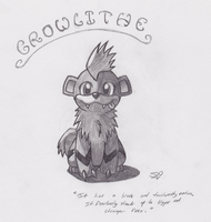 Growlithe by Rukario-kun
