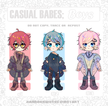 Adoptable: Casual Babes Batch 9 [CLOSED] by kanodraw