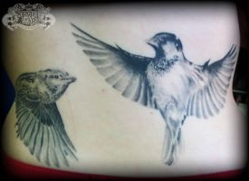 Sparrows healed 2 by state-of-art-tattoo