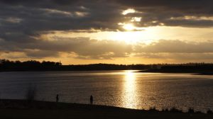 Sunset over Pitsford Water by Ediwedi