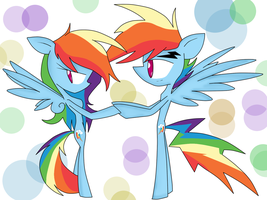 Dash and Blitz :Heh, you're rude Dashie: by shadcream4eva