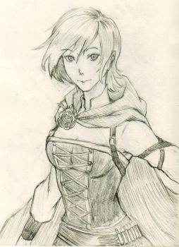 Ruby(pencil sketch) by lucky1717123