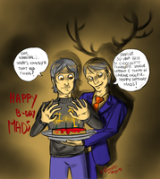 Hannibal and Mads 1 - Happy Birthday by FuriarossaAndMimma