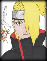 Naruto: Deidara by Oskar-Draws