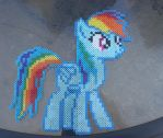 Rainbow Dash Perler by ZombieLolitaPrincess