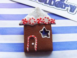 Gingerbread House Brooch 3 by tyney123