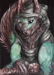 ACEO - Blue Moon by FuriarossaAndMimma