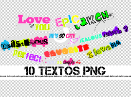 3pack de textos PNG + by Discopada