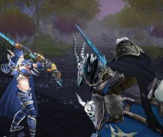 Arthas incoming to Silvermoon by Darkwowforever