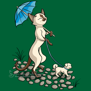 A Cat Walk in the Park Shirt Design by SingapuraStudio