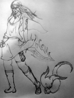 Magical Swordswoman - Pencil by Inatervo